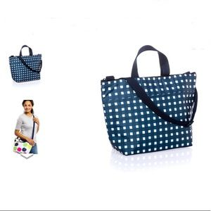 Thirty-One Crossbody Thermal Tote in Goin' Gingham
